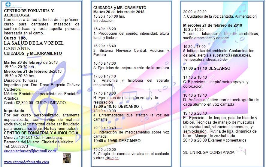 CENTRO DE FONIATRIA Y AUDIOLOGIA CUIDADOS DE LA VOZ DEL CANTANTE ...
